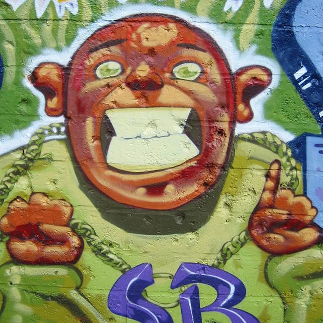 I'll soon be in Bristol visiting old grounds and the friends around there, not to mention painting some bits too! It's got me reminiscing about this guy I painted in 2013 . . .  #graffiti #bristol #bristolgraffiti #bristolgraff #shootingranges #flashback #throwback #rattlecan #graffproduction #getup