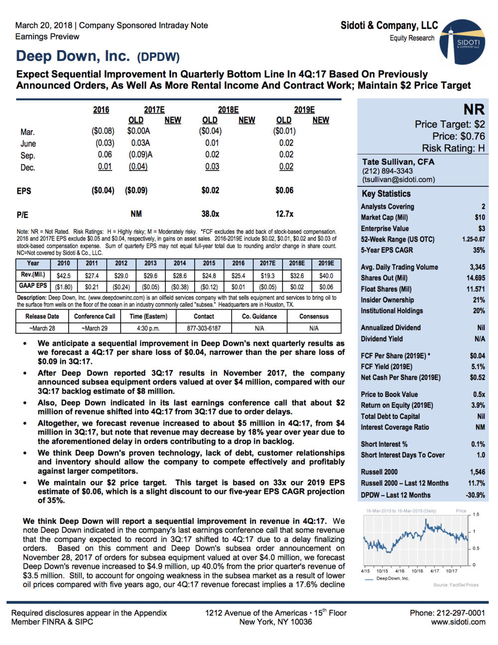 Earnings Preview: March 20, 2018