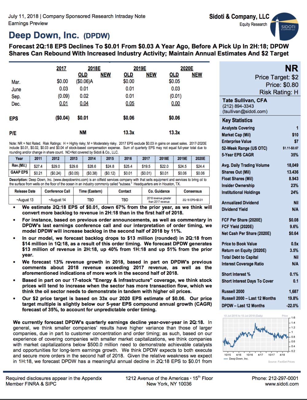 Earnings Preview: July 11, 2018