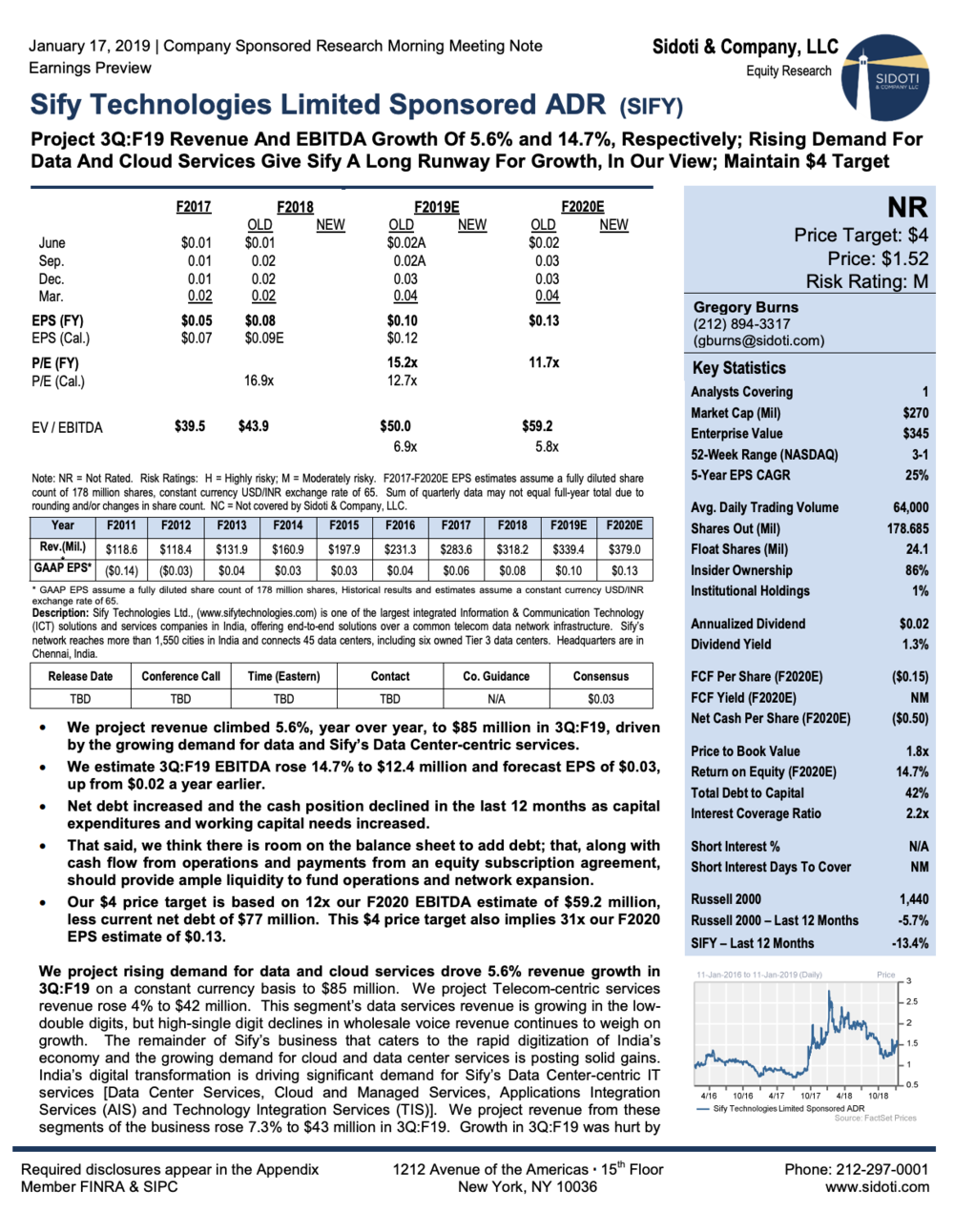 Earnings Preview: January 17, 2019