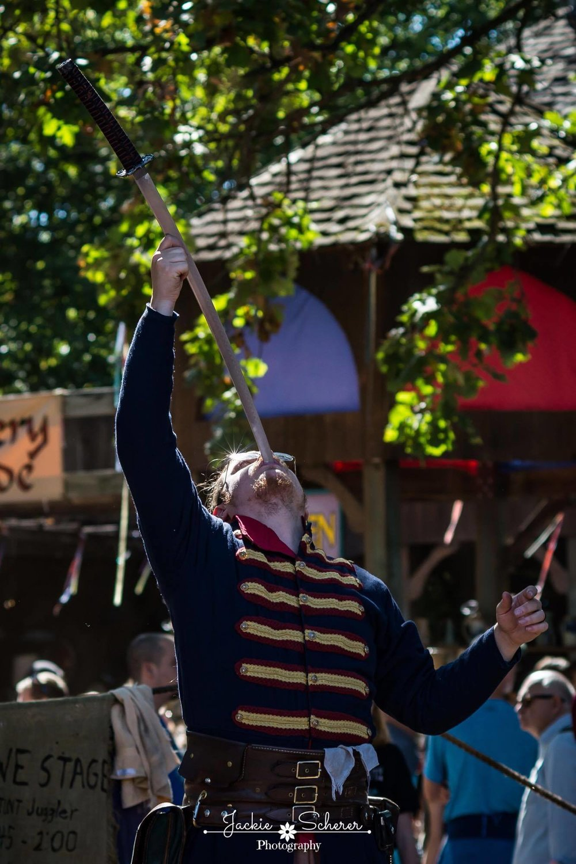 Swallowing a katana at the Minnesota Renaissance Festival