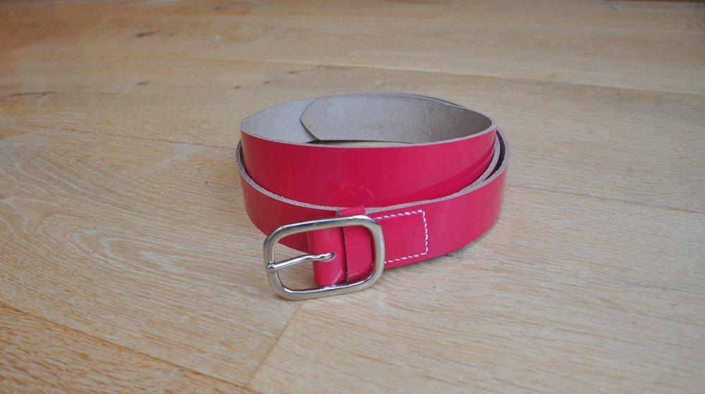 Patent Pink Belt, £30
