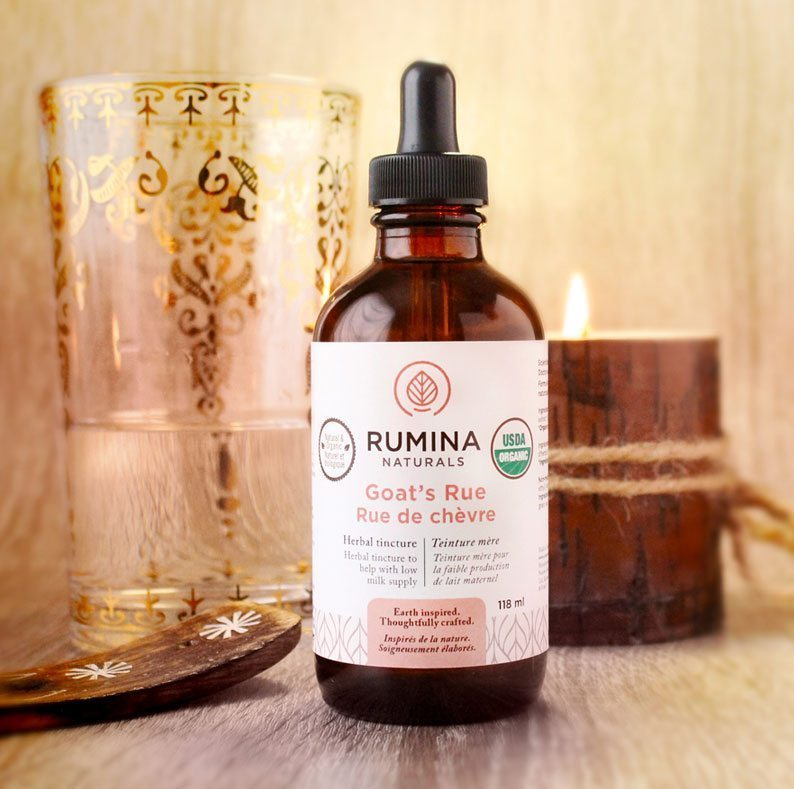 🍁 Rumina Naturals    Certified Organic herbal tinctures of Goat's Rue or Milk Aplenty Blend.