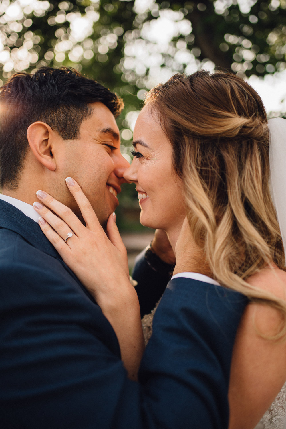 Irving & Katelyn - golden hour first look & indoor stringed light reception