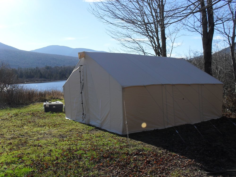 Wall Tent at Chain of Ponds, Maine