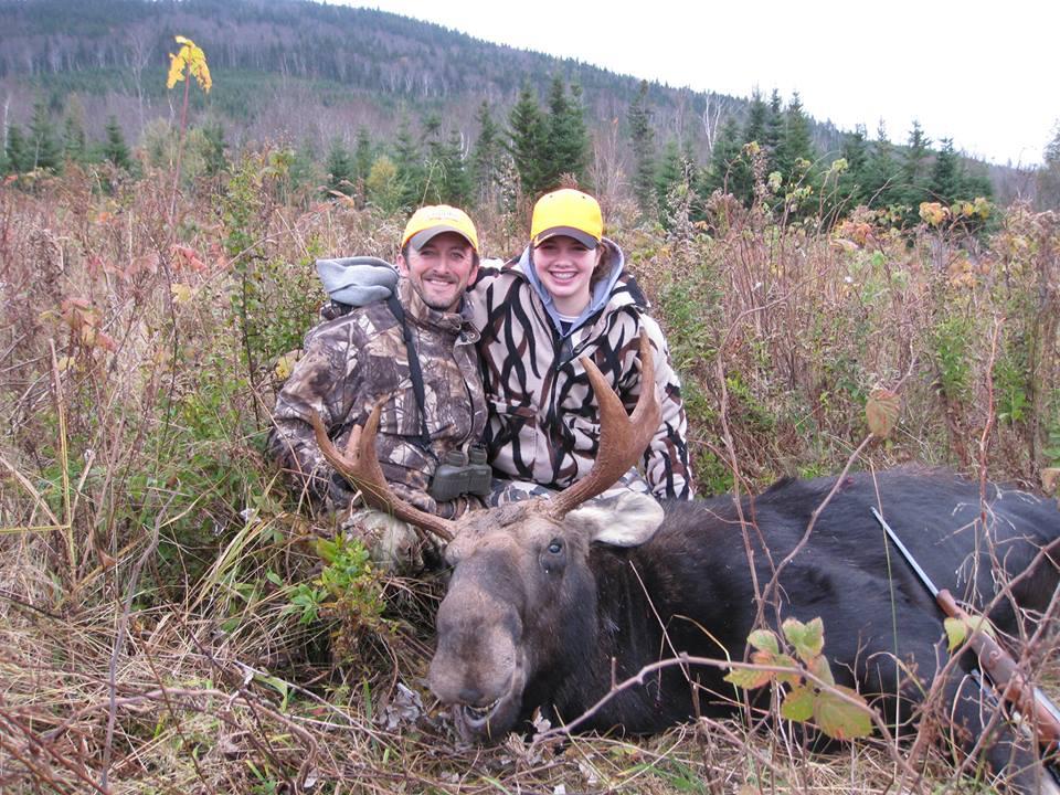 girl hunter w:moose.jpg