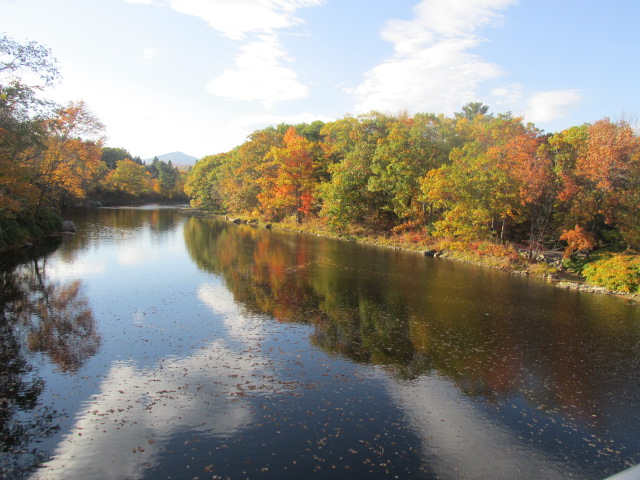 Carrabassett River in fall