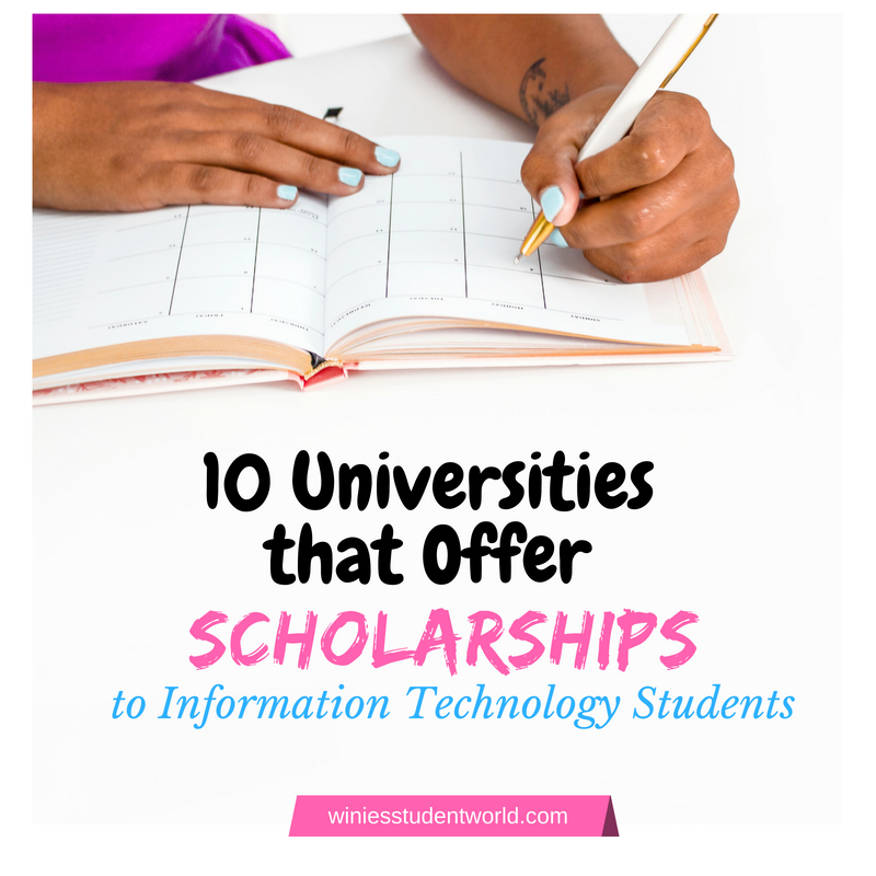 Universities that offer scholarships to graduate information technology students in the US