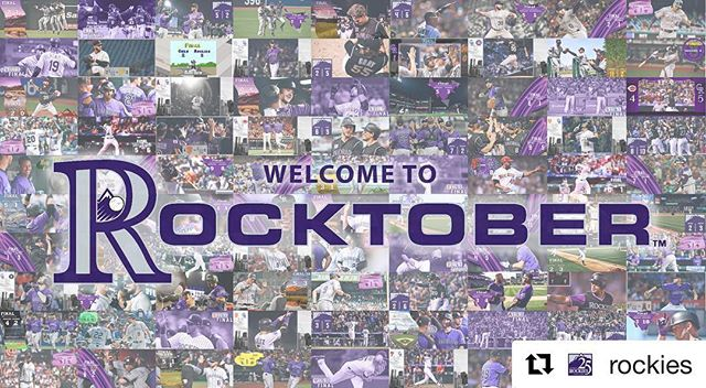 #rocktober is upon us!🏔⚾️ Go #coloradorockies!