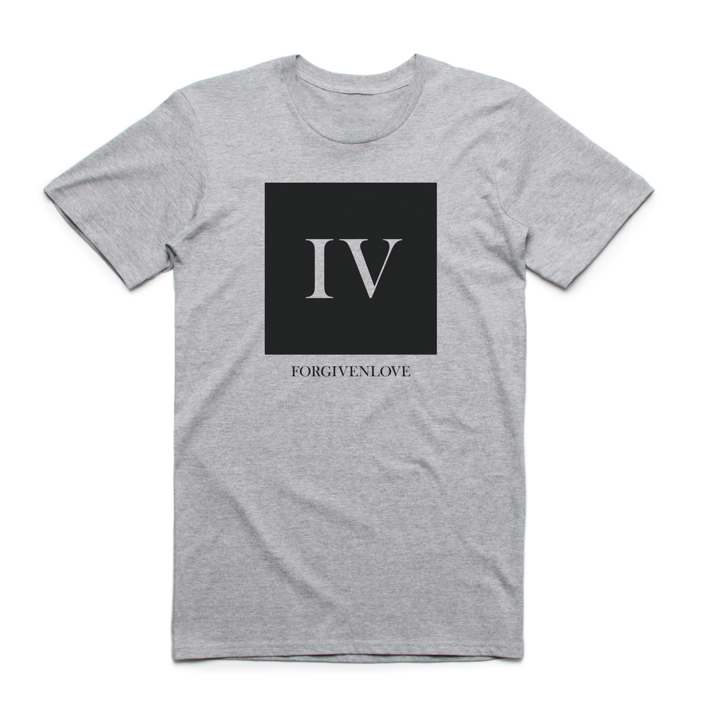 Iconic Square Tee Athletic Grey  $44.00