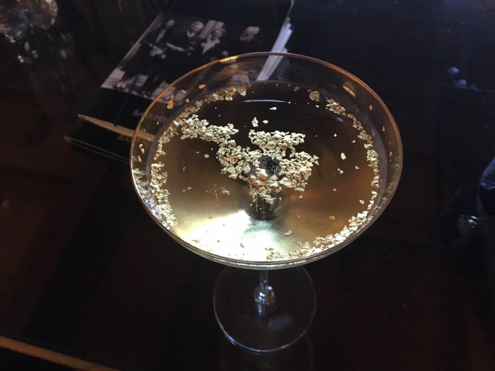 Cliveden's Champagne Cocktail with Gold Flakes