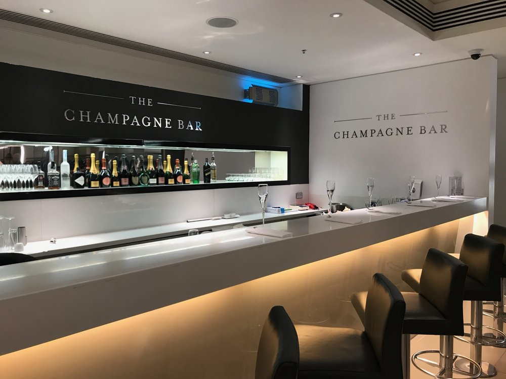 Champagne Bar at Harrods