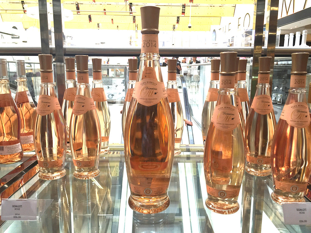 Rosé at Harvey Nichols