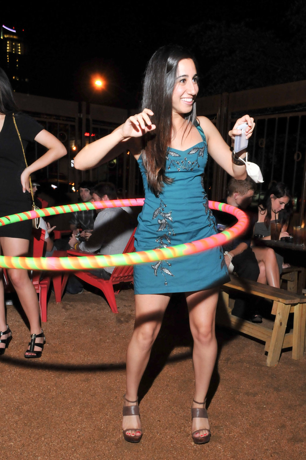 Hula Hooping at Lustre Pearl