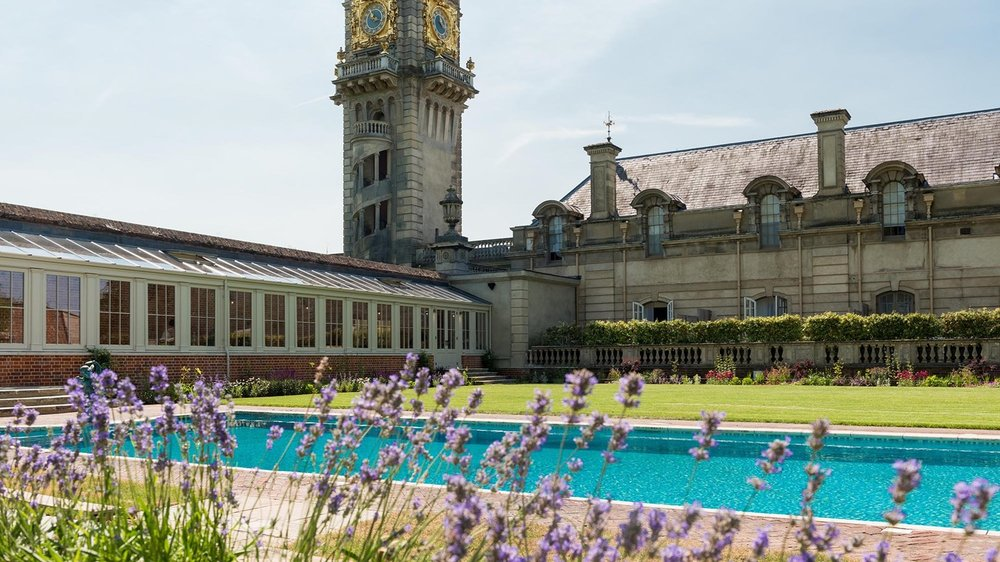 CC Cliveden pool with clock tower.jpg