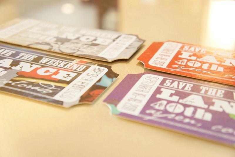 custom invitations:screen printing + dye cuts -