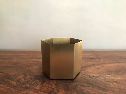 Brass Hexagonal Vases | Contact for pricing