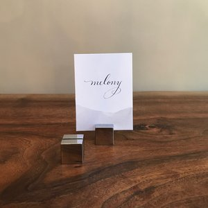 Silver Placecard Holders | Contact for pricing