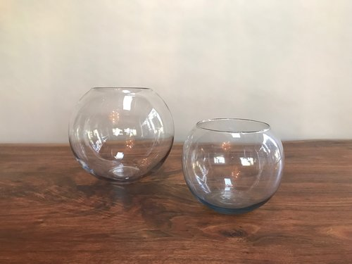 (5) Large Globe Vases | $5  (3) Medium Globe Vases | $5