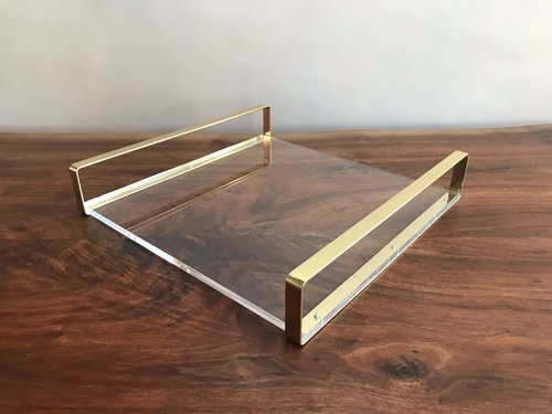 (1) Acrylic + Brass Bar Tray | $15