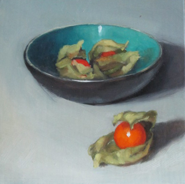 Physallis and bowl- Oil