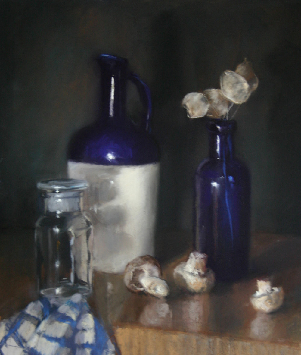 Arrangement in blue & white - Pastel