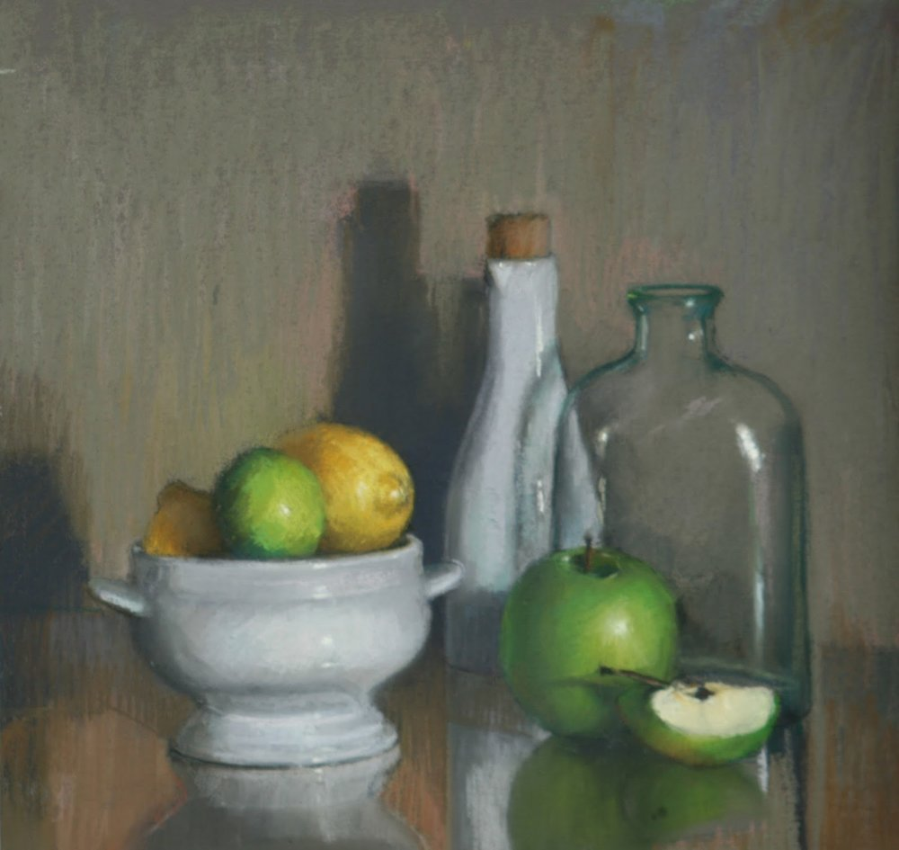 Citrus with apples & Carafe - Pastel