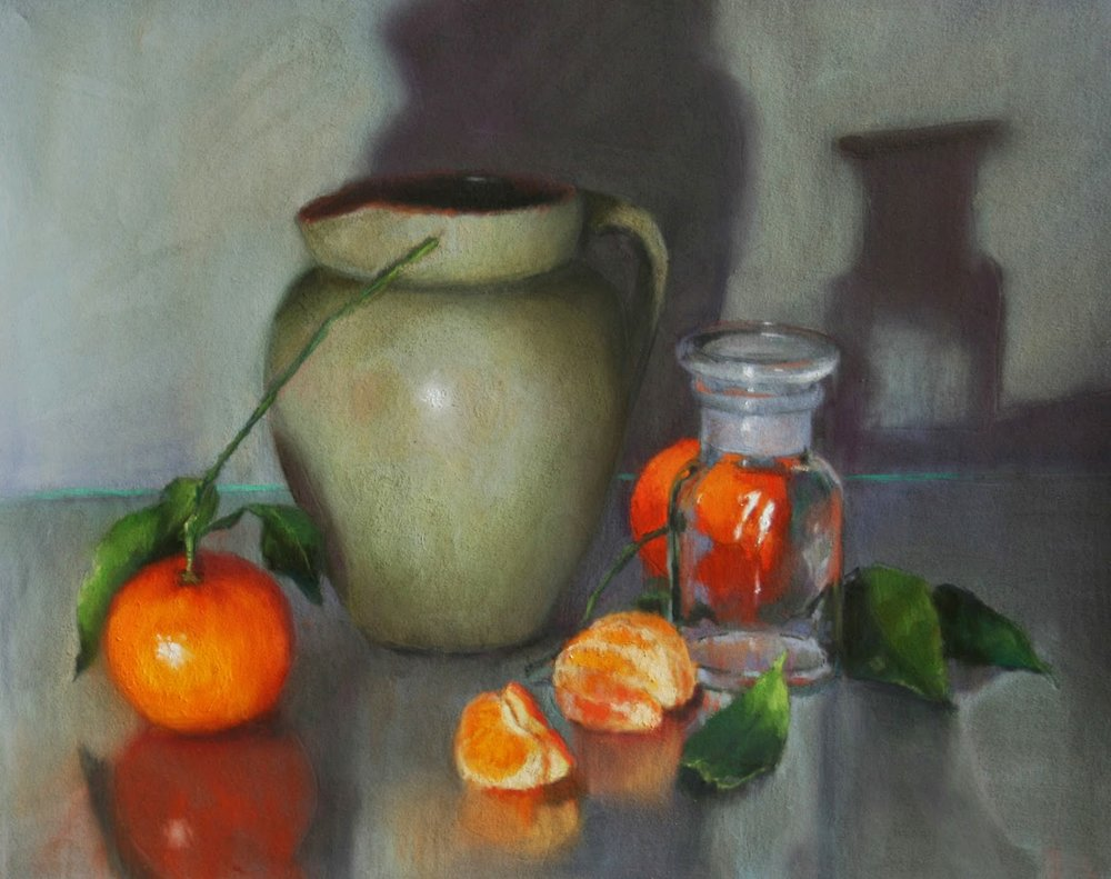 Green jug and citrus - Oil