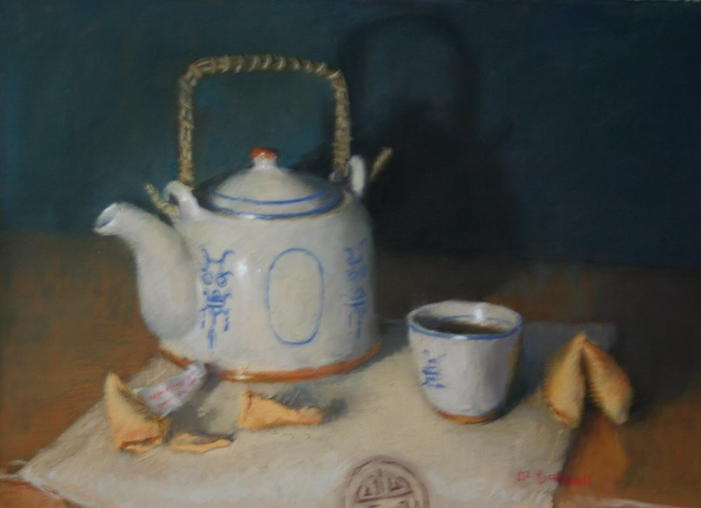 Tea with fortune cookies - Pastel