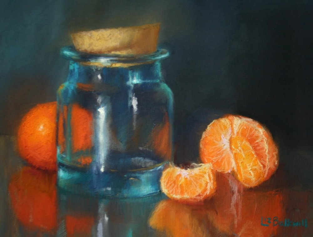 Glass jar with citrus - Pastel