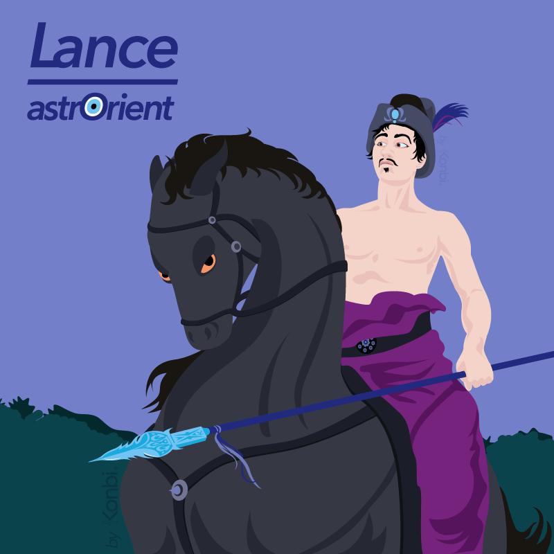 La Lance  - Signe astrologique arabe par astrOrient © Konbi