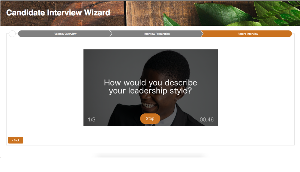 Video Wizard - Record the Video Interview