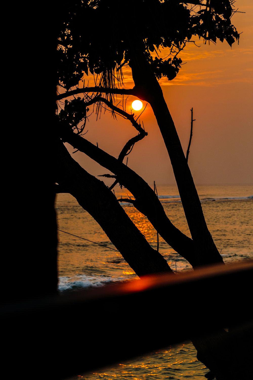 Sri Lankan Sunset, taken from our balcony at Cantaloupe Aqua, Unawatuna.