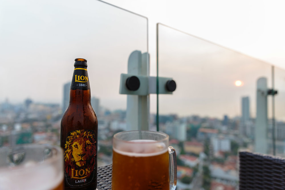 Beautiful beer with a beautiful view.