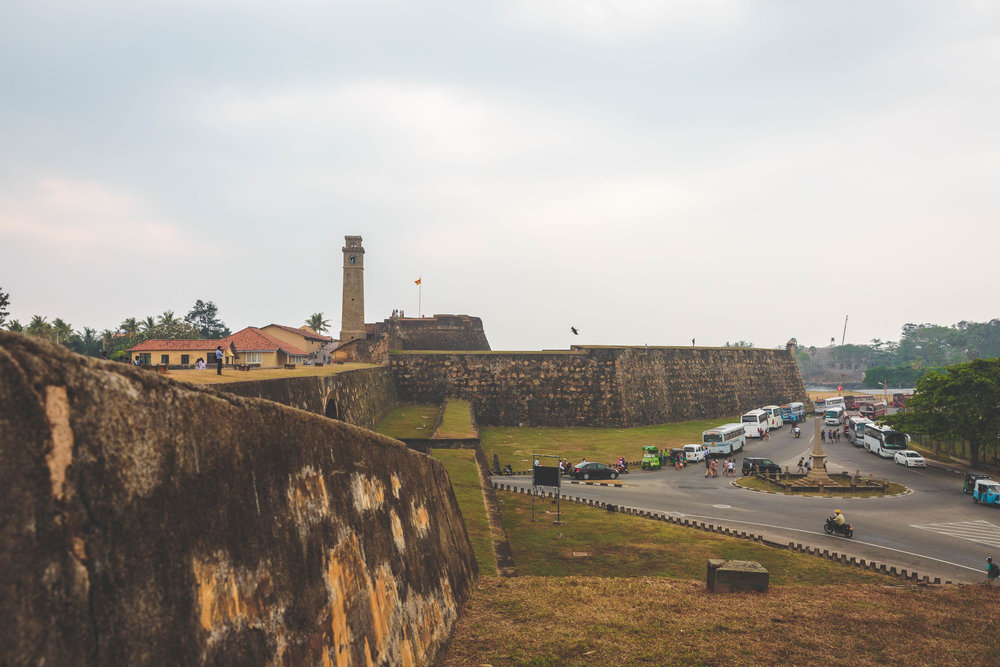 The clock tower, fortress and city outside the walls.