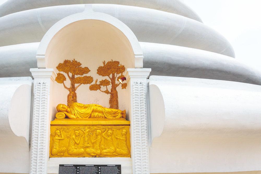 The Japanese Peace Pagoda.
