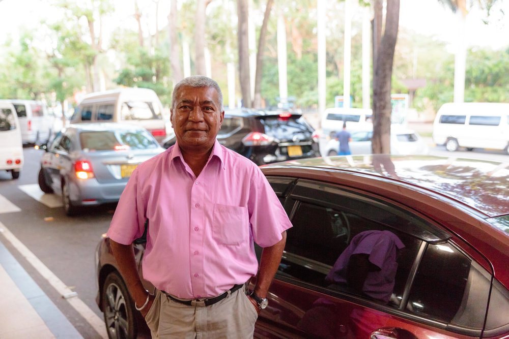Saying goodbye to Tuan, our driver.