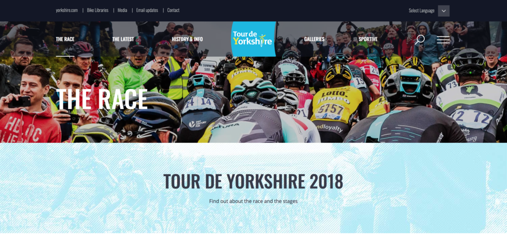 Le Tour De Yorkshire's official website, 2018.