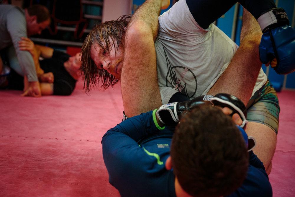 Nic Sanderson Training MMA