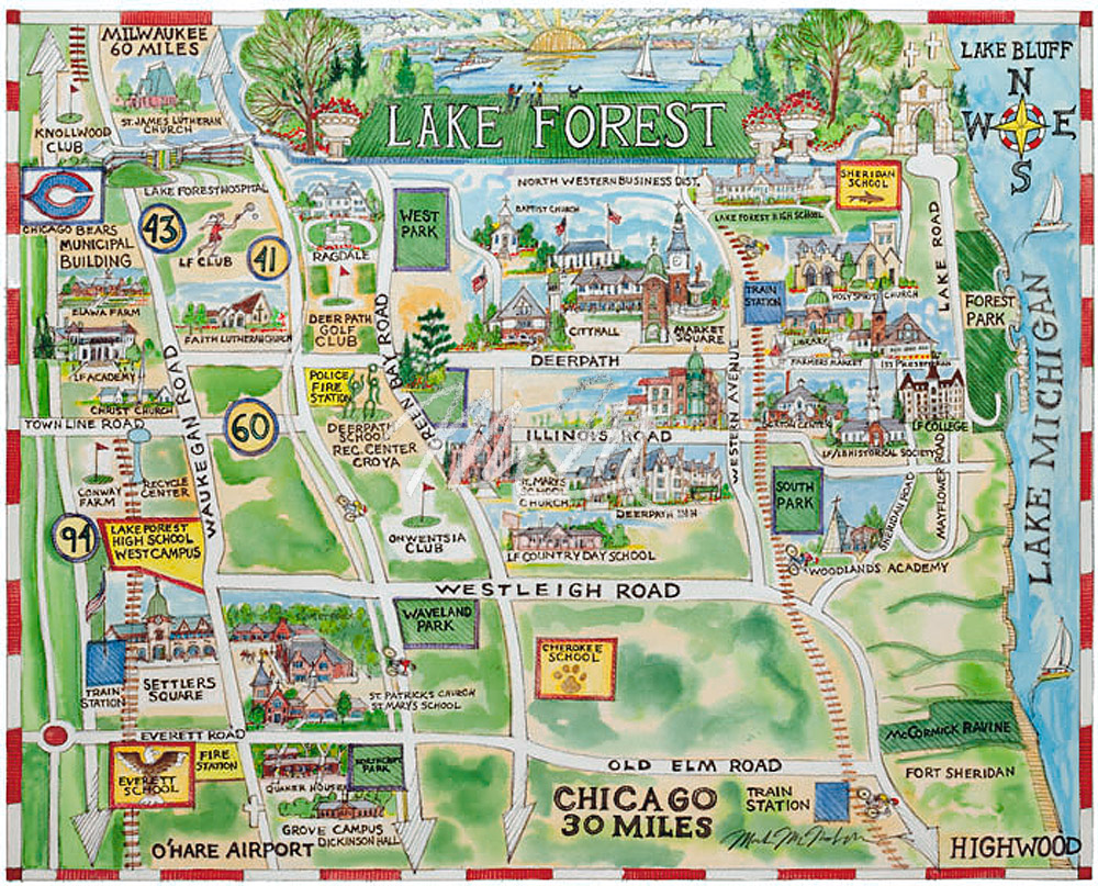 Lake Forest Map | McMahon Gallery