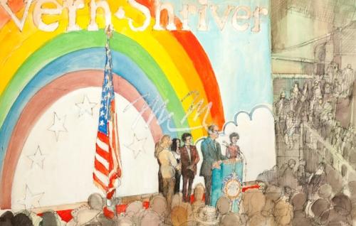 CT72 Politics Eugene McCarthy/LBJ/McGovern/Pirre Salinger/Republican Convention