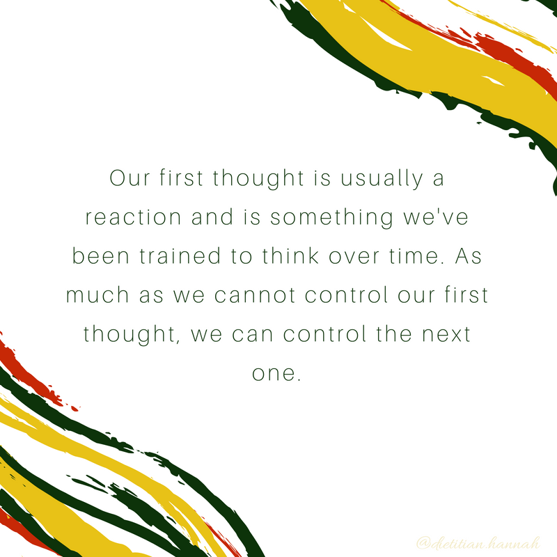 our first thought we cannot control