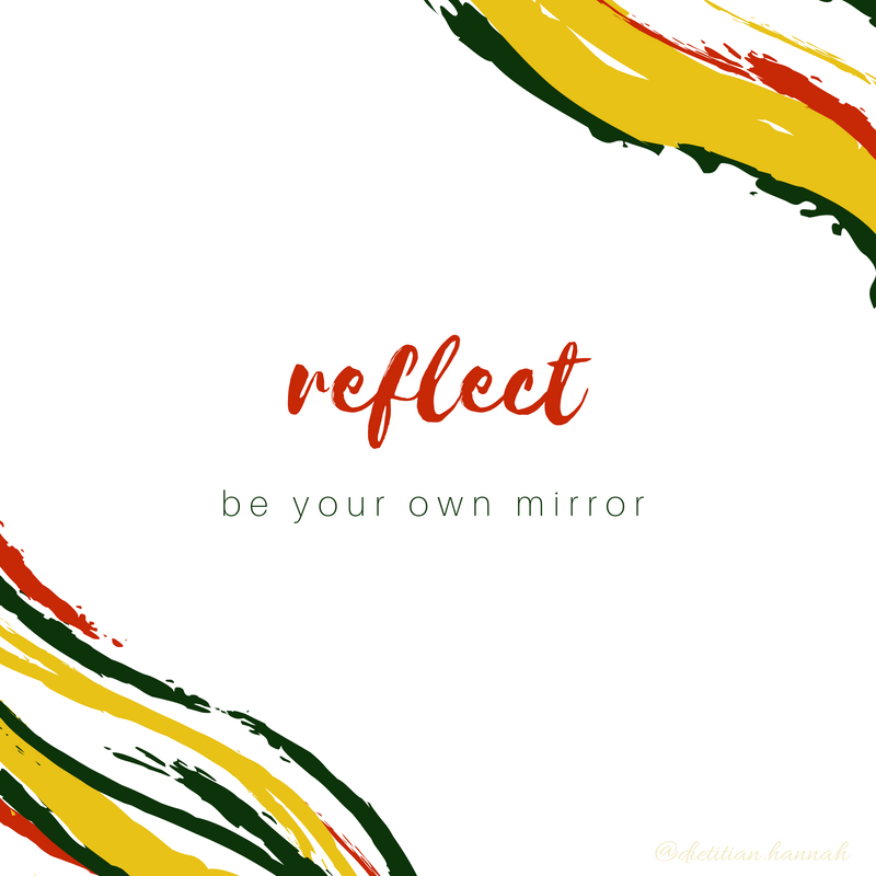 Be your own mirror