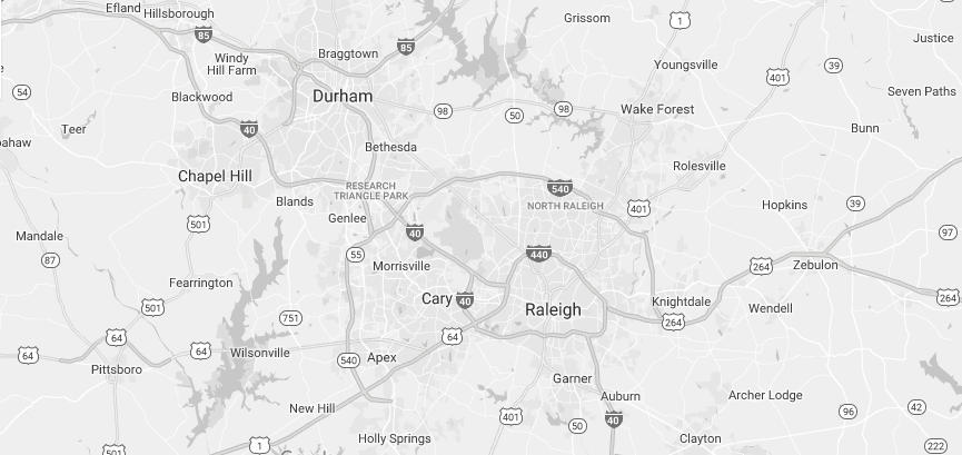 *The Triangle consist of Durham, Chapel Hill, Raleigh and the neighboring townships.