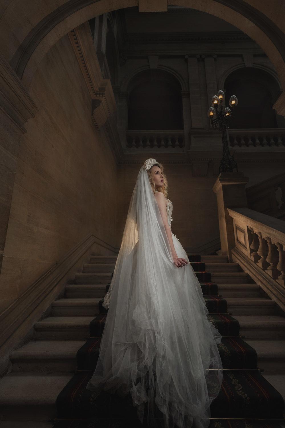 Heythrop Park bridal portrait