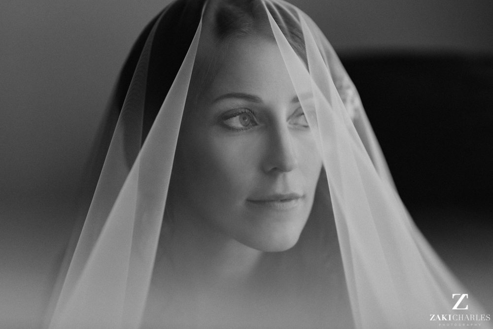 Classic natural light bridal portrait