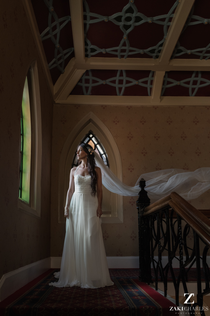 Bridal portrait at The Randolph Hotel