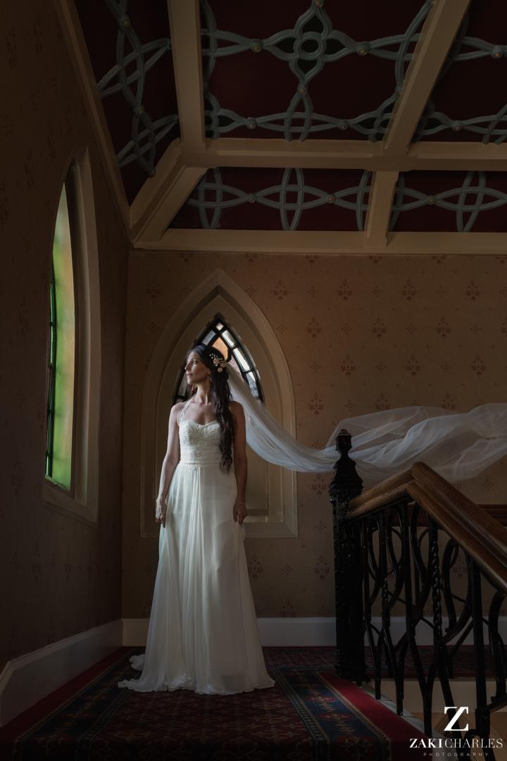 Bridal portrait at The Randolph Hotel