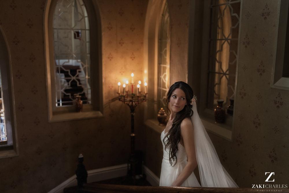 Bridal portrait at The Randolph Hotel Oxford