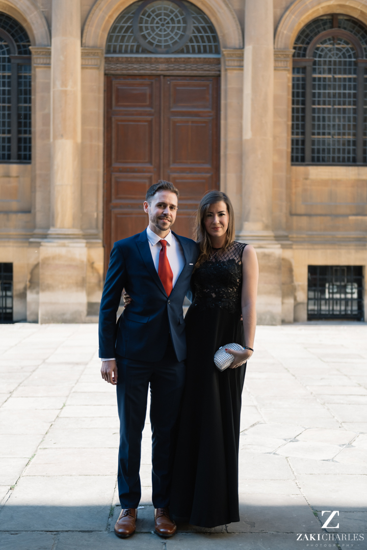 Guests arriving at The Bodleian Library wedding